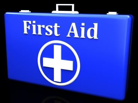botiquin primeros auxilios: Botiqu�n de primeros auxilios Foto de archivo
