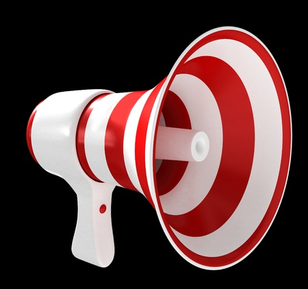 Red megaphone isolated on white background Stock Photo - 12044869