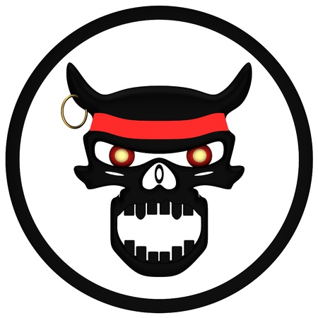 Evil Skull in white background Stock Photo - 12044855