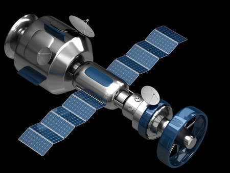 artificial satellite: The model of an artificial satellite Stock Photo