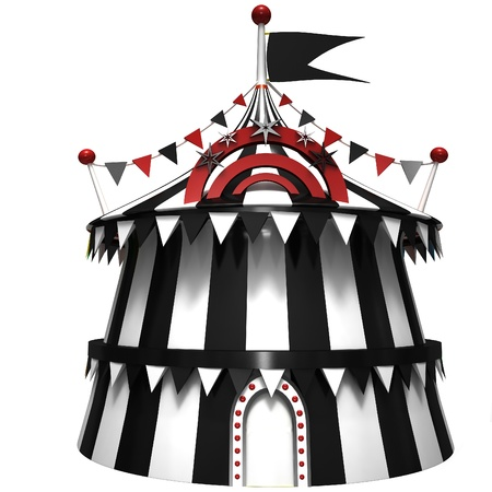 clown circus: Illustration of a circus tent