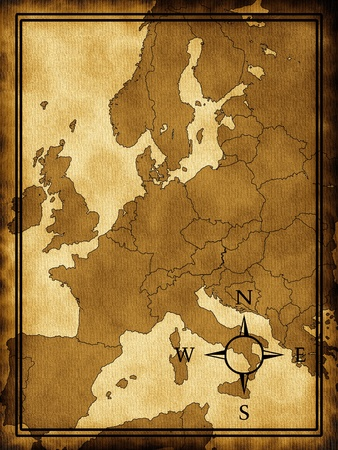 geographical: Map of Europe Stock Photo