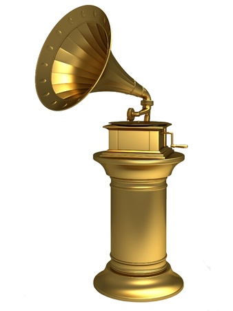 Golden gramophone Stock Photo - 12164123