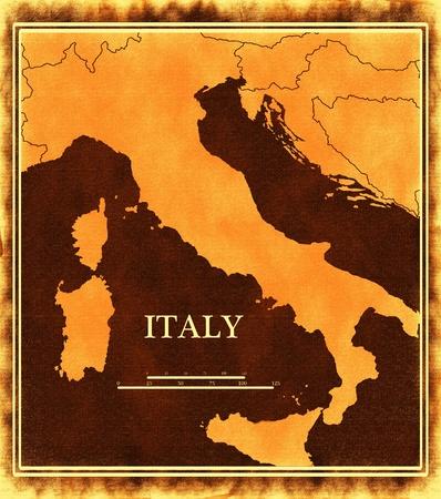 Italy map photo