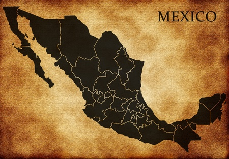 Map of Mexico Stock Photo - 12499217