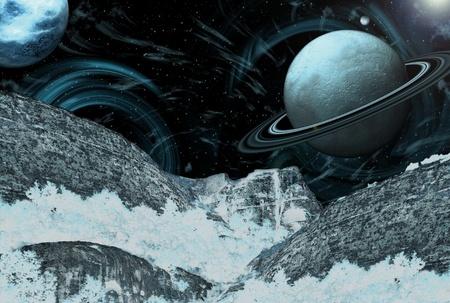 Spacecraft Landscape - Other Worlds Stock Photo - 12499180