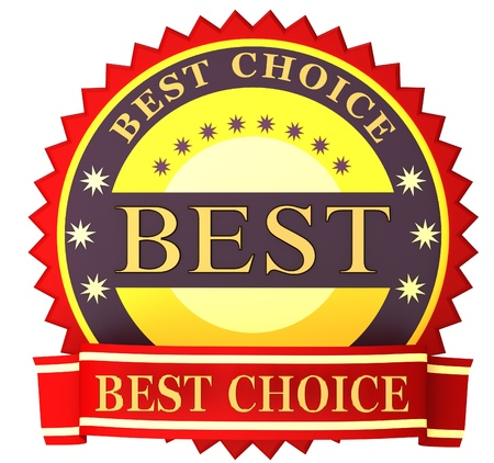 best choice: Red best choice label