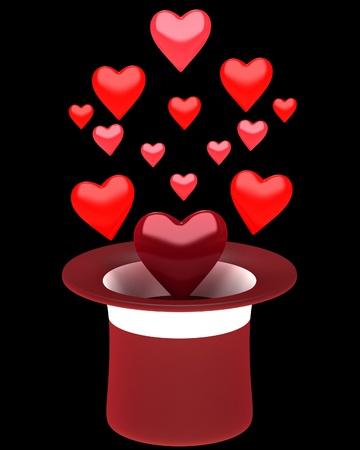 Hat with hearts photo