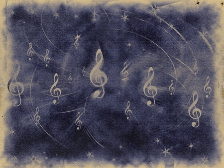 Treble clef and notes thebackground photo
