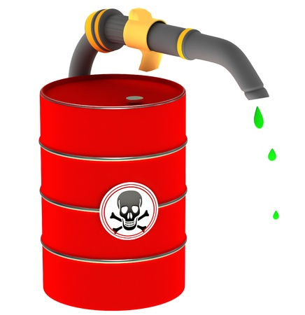 A barrel of poison Stock Photo - 12499055