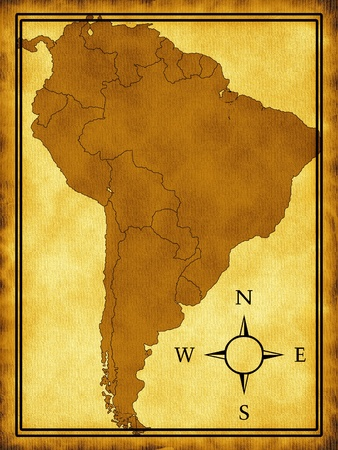 Map of South America photo