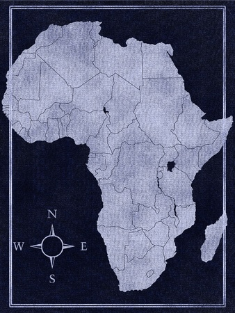 Map of Africa on the white background photo