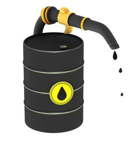 A barrel of oil Stock Photo - 12499381