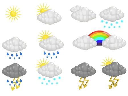 Cloud Icons Stock Photo - 12499379