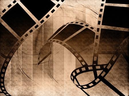 Blank film strip Banque d'images