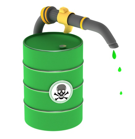 A barrel of poison Stock Photo - 12499459