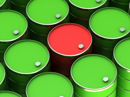 trash danger: A barrels Stock Photo