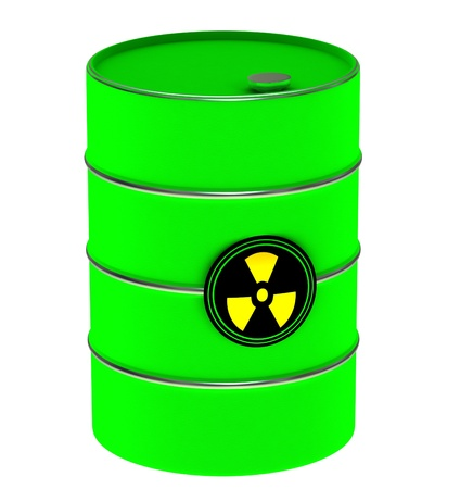 A barrel of poison on a white background Stock Photo - 12499589
