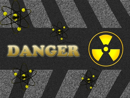 Danger sign marked with radiation Stock Photo - 12499701