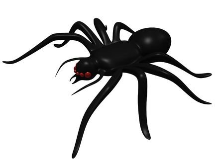 spider cartoon: Black toy spider Stock Photo