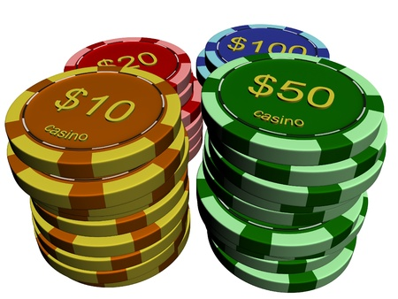 Casino chip stacks photo