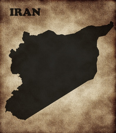 Map of Iran photo