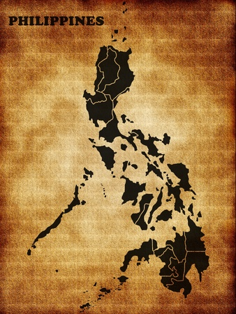 philippines map: Map of the Philippines Stock Photo