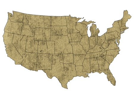 united states map: Map of USA with states