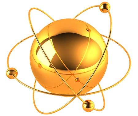 Oro átomo de
