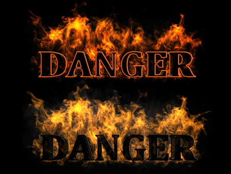 The inscription in the fire danger Stock Photo - 12860101