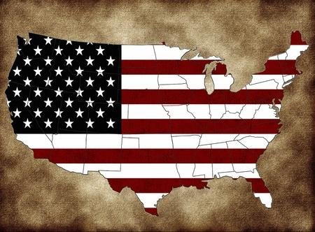 USA map photo