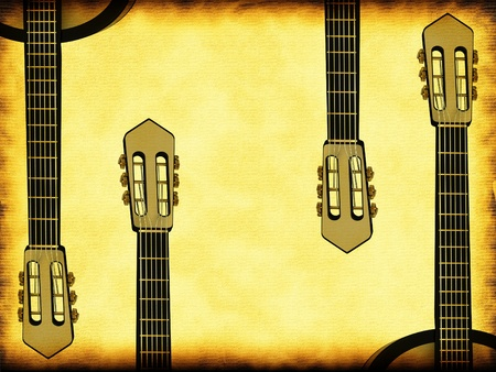 Old background music with a guitar photo