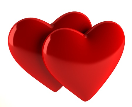 Red hearts Stock Photo - 12977103