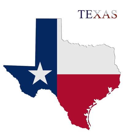 Mapa de Texas con fichas de casino photo