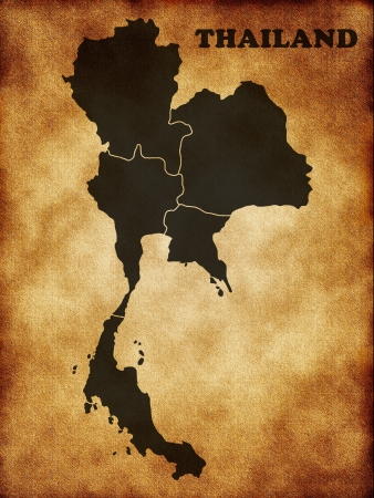 southeast: Map of Thailand Stock Photo