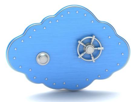 Cloud - safe box Banque d'images
