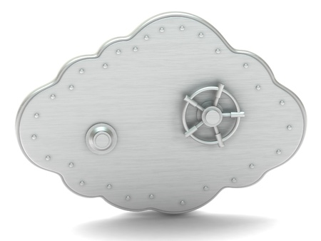 safe money: Cloud - safe box Stock Photo