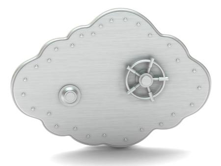 caja fuerte: Nube - caja de seguridad Foto de archivo