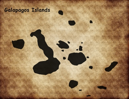 Galapagos Islands in the old style Stock Photo - 13179238