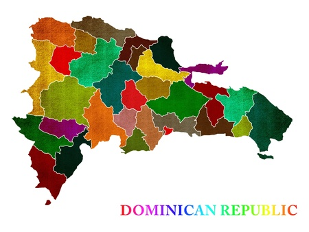Map of Dominican Republic photo