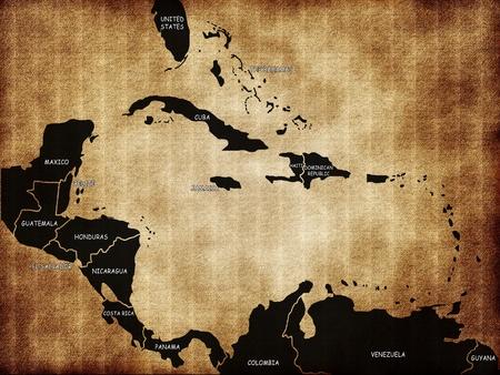 Map of Caribbean Islands photo