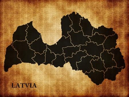 latvia: Map of Latvia