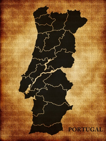 Map of Portugal photo