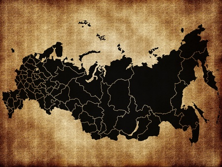 Map of Russia photo