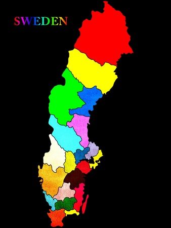 Sweden map photo