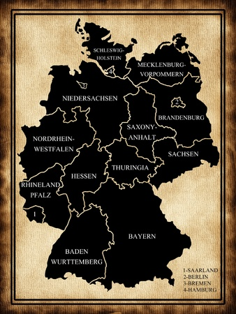 Germany map with regions photo