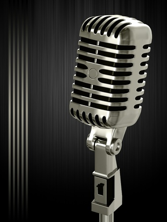 Vintage microphone on the background Stock Photo - 13509853