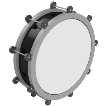 A drum isolated on a white background photo