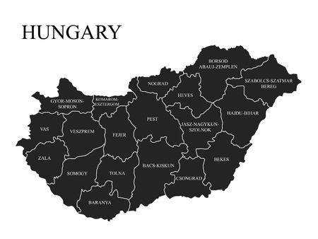 Administrative division of Hungary photo