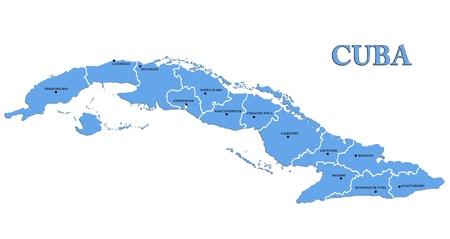 Map of Cuba photo